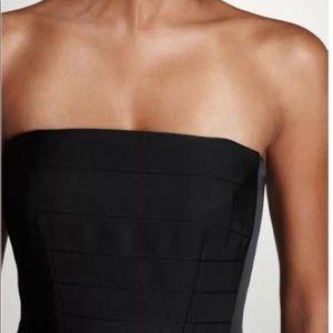 Ann Taylor Strapless Grosgrain Ribbon Dress 8P
